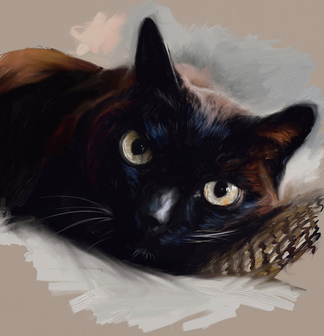 How To Paint A Cat In Oil Step-By-Step With Jorge & Nacho